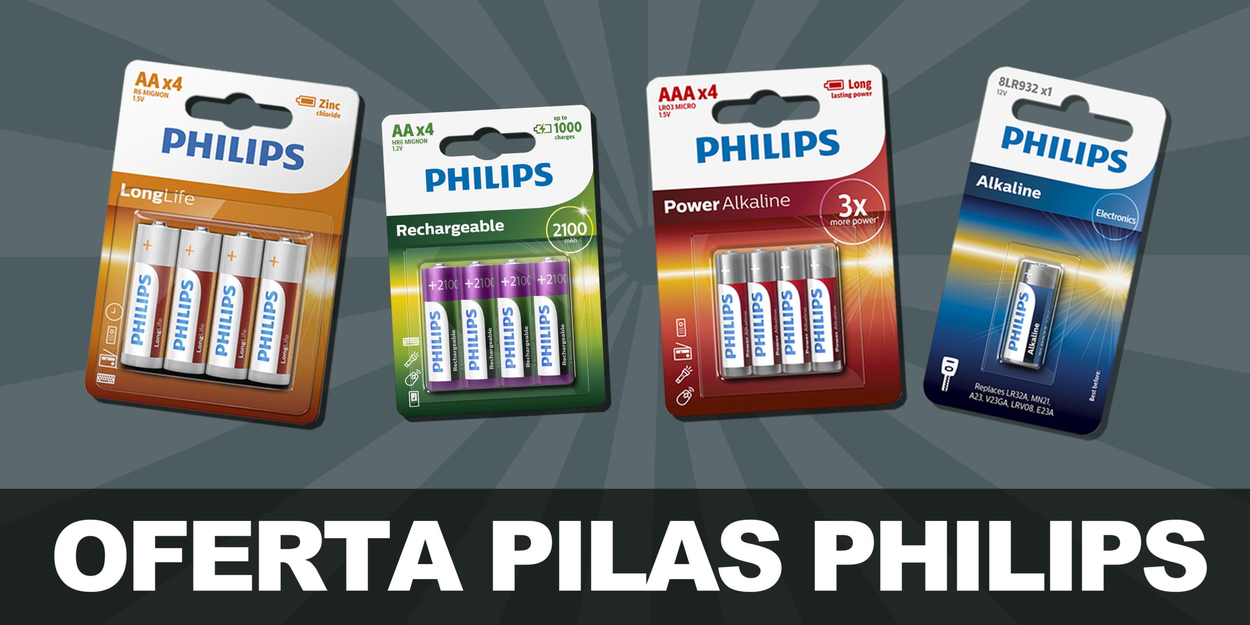 Oferta pilas Philips